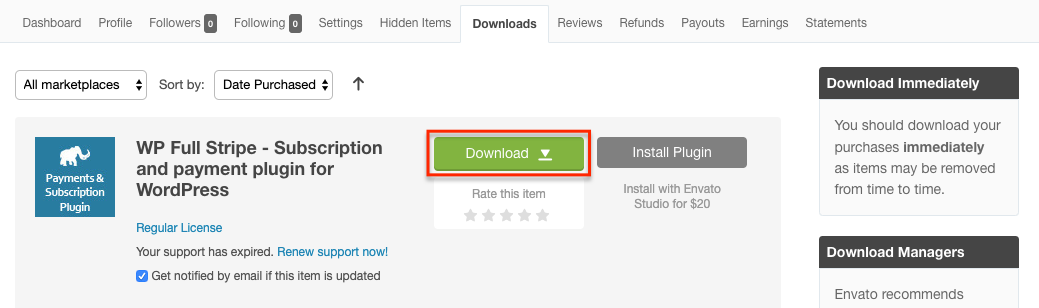 CodeCanyon Downloads