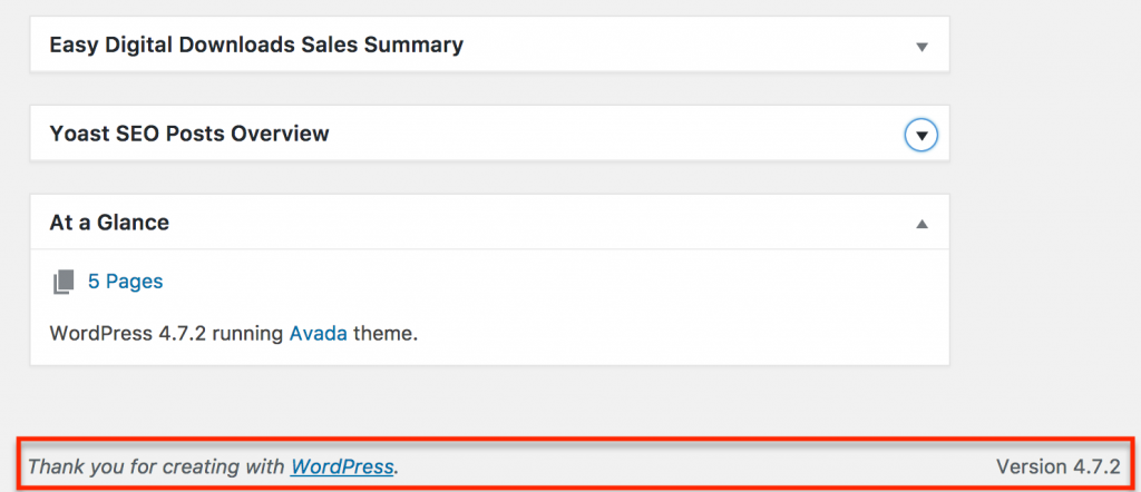 WP Full Stripe minimum requirements - Check out the WordPress version number in the footer on the Dashboard