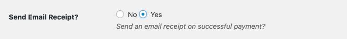 Send Email Receipt? - Form option